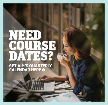 Download AIM's Quarterly Calendar here