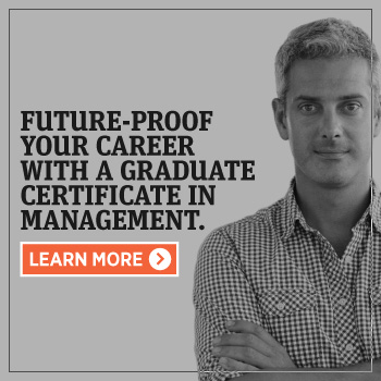Future-proof your career with a graduate certificate in management