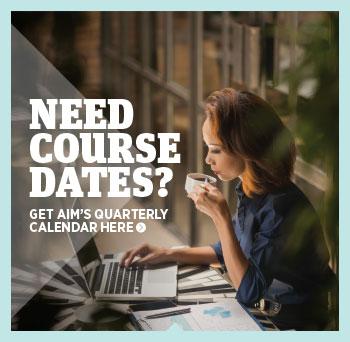 Download AIM's Quarterly Calendar here